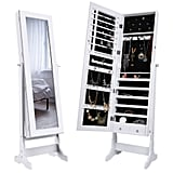 Langria Lockable Jewelry Mirror Cabinet
