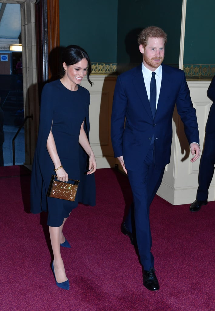 "Prince Harry and Meghan Markle stepped out in style for Queen Elizabeth II's 92nd birthday on Saturday. The couple, who will officially tie the knot on May 19 at St George's Chapel at Windsor Castle, made a grand entrance at the Queen's birthday concert at the Royal Albert Hall wearing matching navy blue outfits. The regal colour undoubtedly made the lovely duo look like the true royals that they are. Earlier in the day, Meghan and Harry made another appearance together at a special reception in honour of the Invictus Games.  The countdown for their big day is just weeks away, and to say we're excited is an understatement. So far we know the invites have been sent and their honeymoon destination has been selected. All that's left to do is say ""I do!"" Until then, we have these swoon-worthy photos to gawk at before the special day arrives.       Related:                                                                                                           If You Want to Watch Harry and Meghan's Wedding, Here's What Time You Need to Wake Up At"