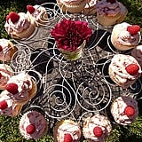 Vanilla Cupcakes With Raspberry Frosting