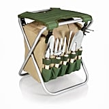 Garden Tool Set With Tote and Folding Seat