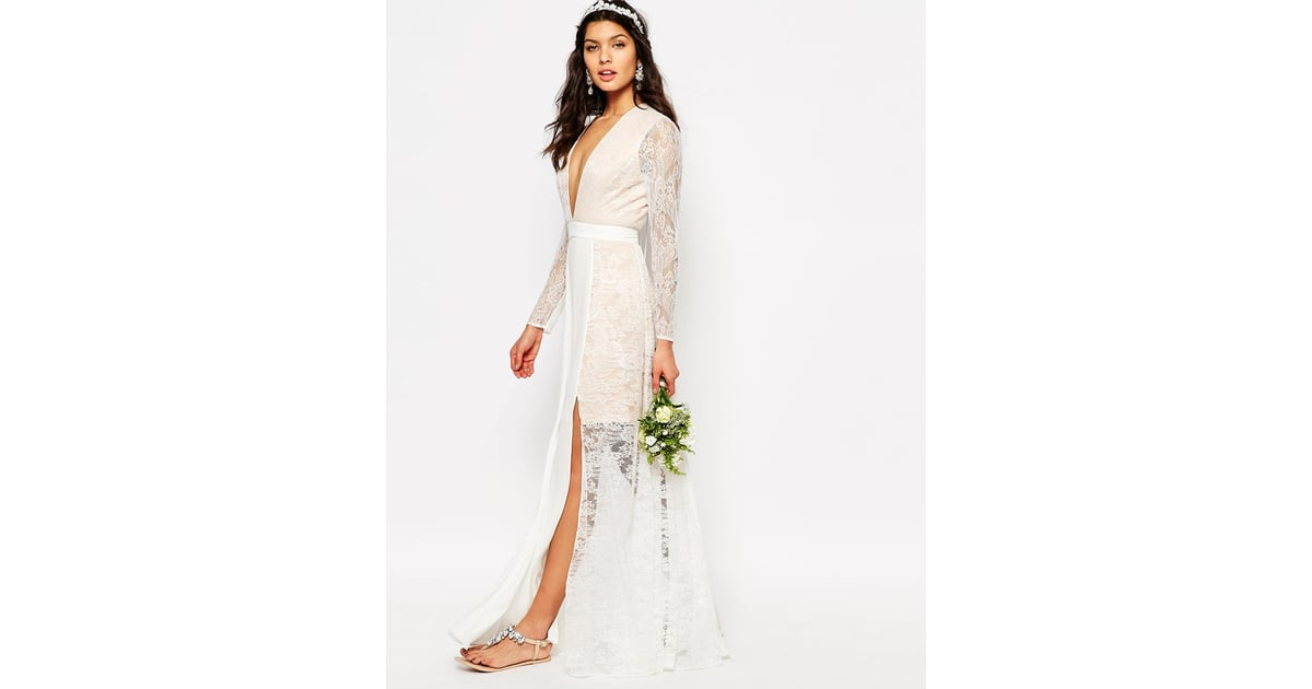 Heaven Wedding Gown: Fame And Partners Bridal Laced Heaven Maxi Dress With