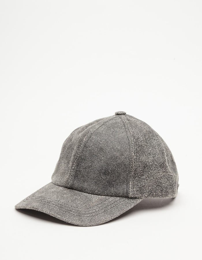 Worn-in gray leather gives the feel of an item you've owned — and loved —for years. The weathered look of this Need Supply Co. find ($88) will fool everyone into thinking you've had it forever.