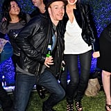 Michael Fassbender with Jenny Eisthammer at the Armani party.