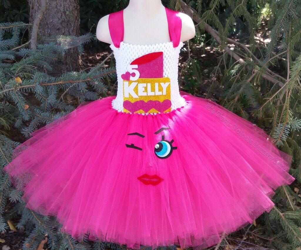 customizable lippy lips inspired tutu dress shopkins halloween
