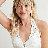 Aerie Palm Lace Halter Padded Bralette