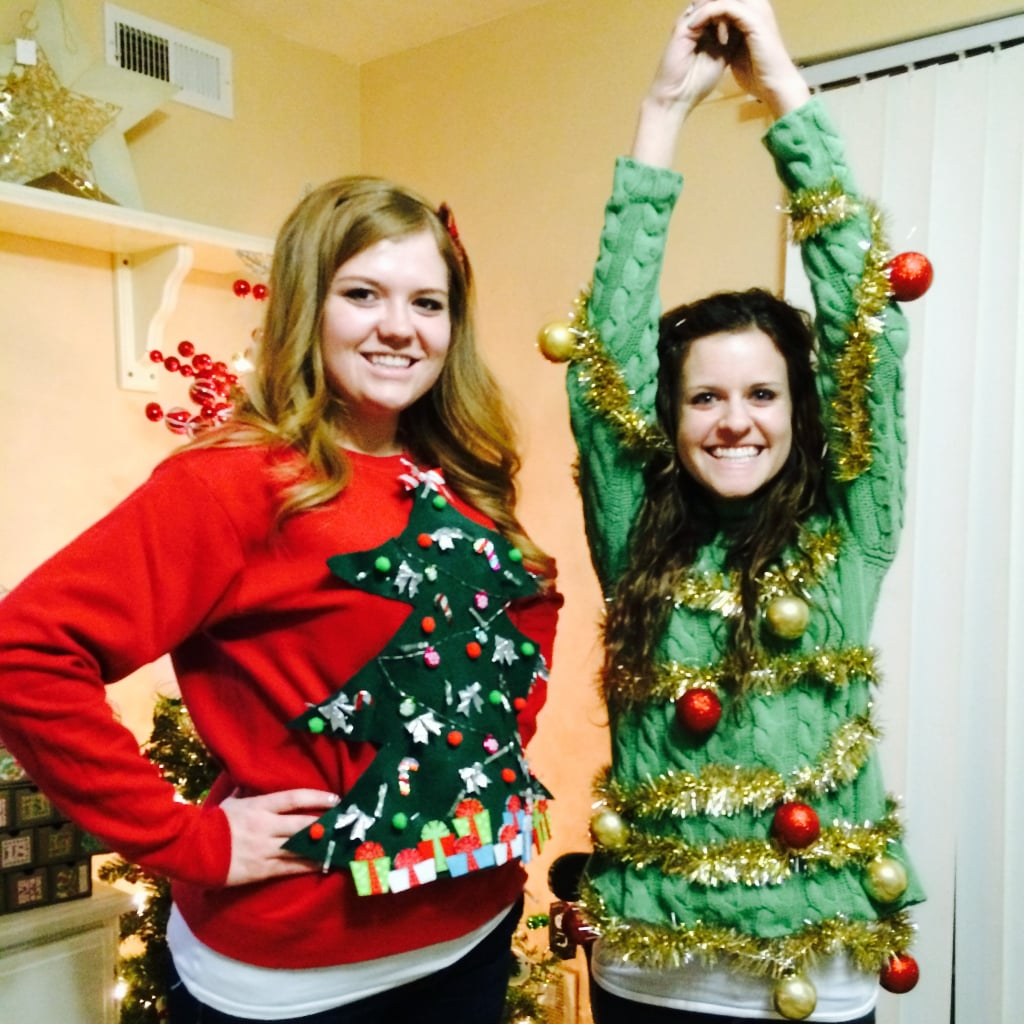 ugly christmas sweater diys popsugar australia smart living - How To Decorate A Ugly Christmas Sweater