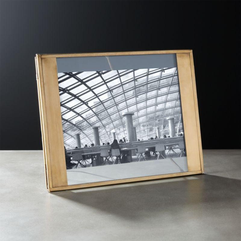 Celeste: Maarten Antiqued Brass  Picture Frame