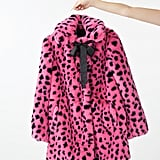 Lazy Oaf Pink & Black Leopard Fur Coat