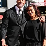 Dwayne Johnson and Family at Hollywood Walk of Fame Ceremony