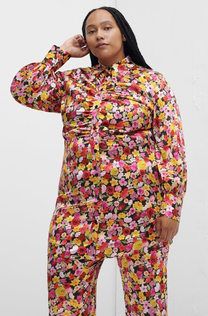 Ganni Silk Stretch Satin Mini Dress