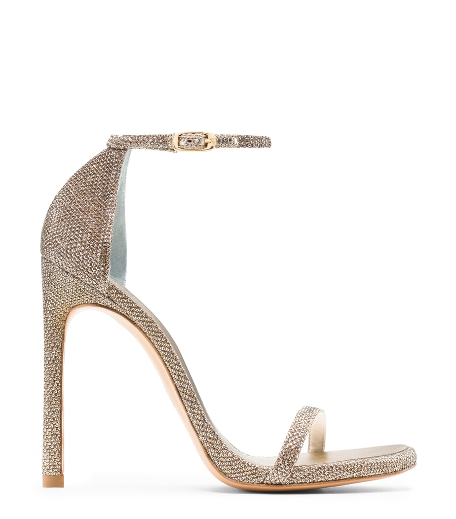 Nudist Sandal in Noir Platinum ($398)