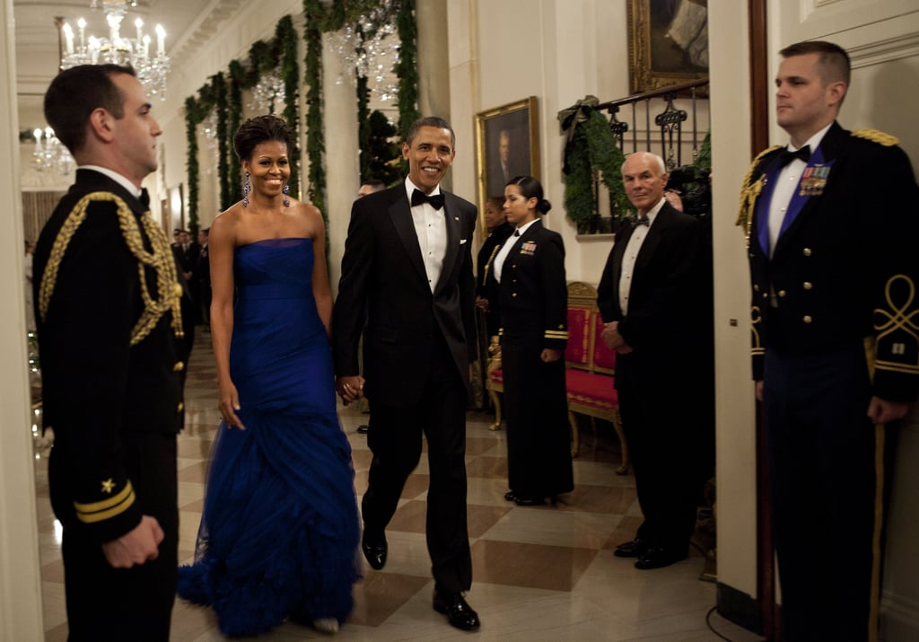 Wearing Vera Wang at the Kennedy Center Honorees reception in 2011.