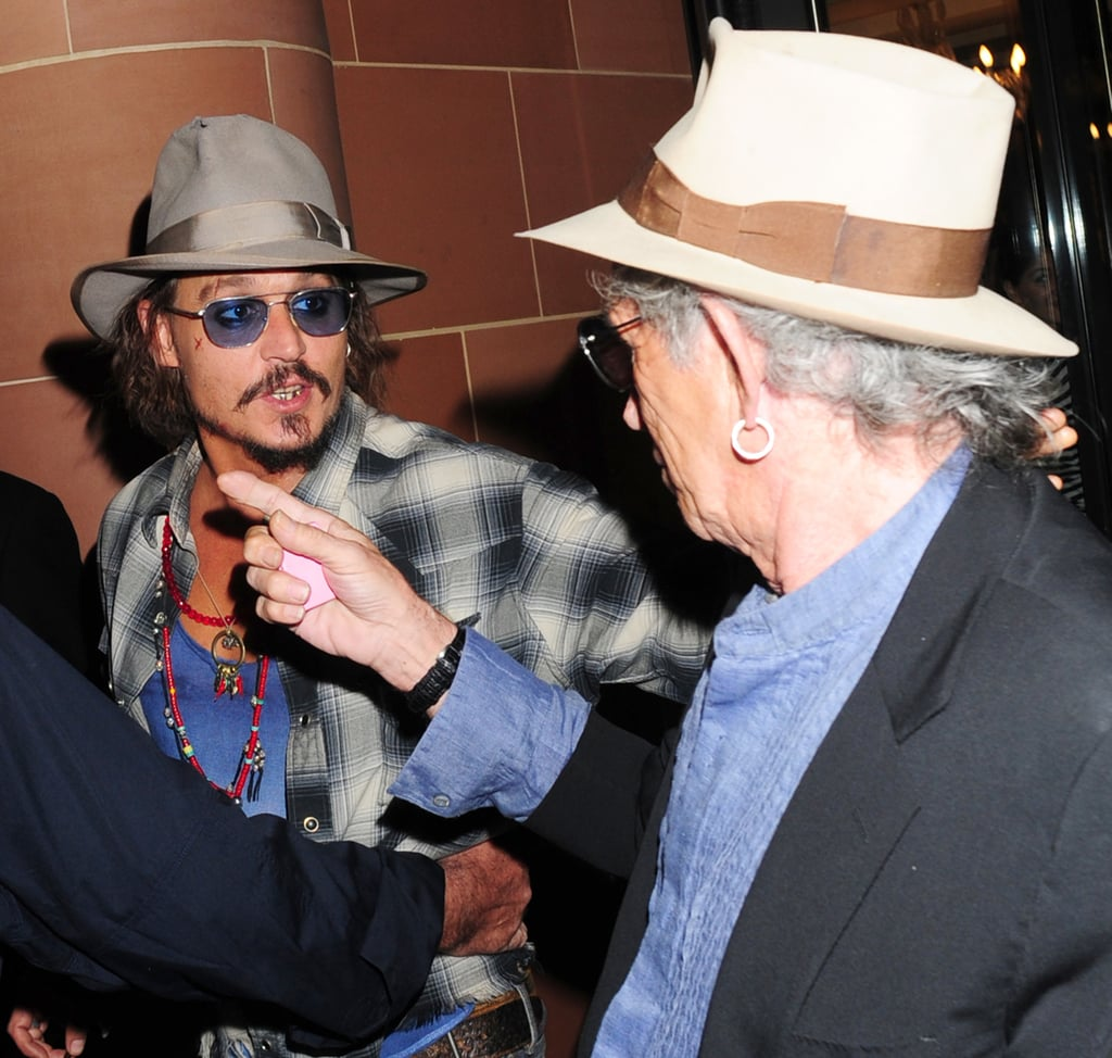Pictures of Johnny Depp and Keith Richards