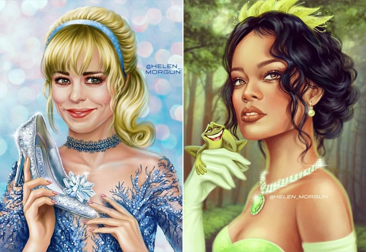 Female Celebrities as Disney Princesses Artwork