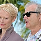Tilda Swinton and Bill Murray posed together at the Moonrise Kingdom photocall at the Cannes Film Festival.