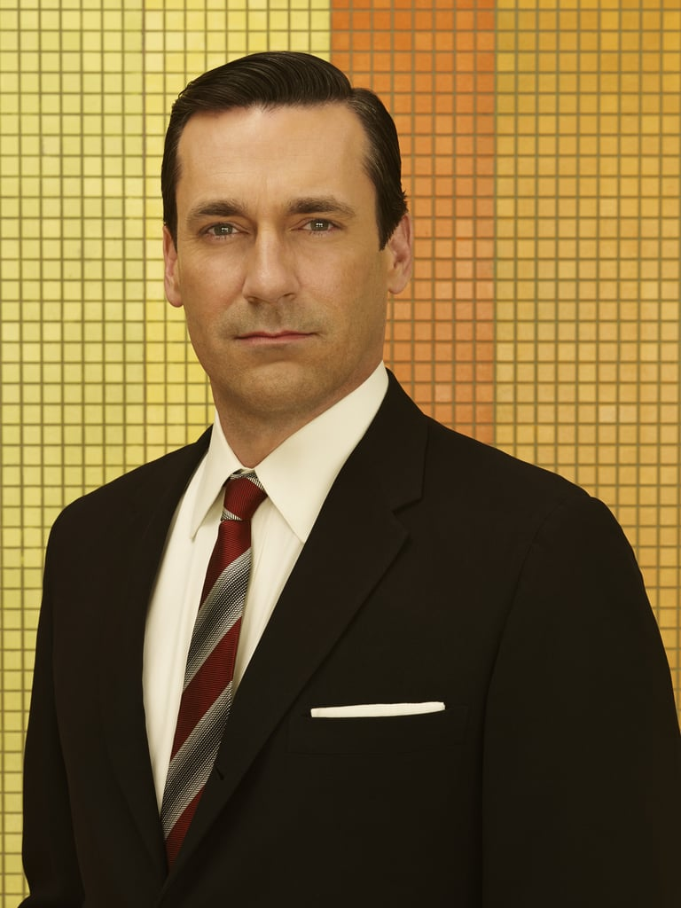 Jon Hamm as Don Draper.