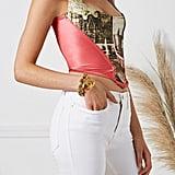 Vivienne Westwood S/S 1992 Pink Satin Salon Corset Top