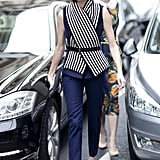 Taylor Tomasi Hill knows that there's more than one way to wear a scarf.
