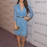 Jessica Lowndes wore a light blue frock.