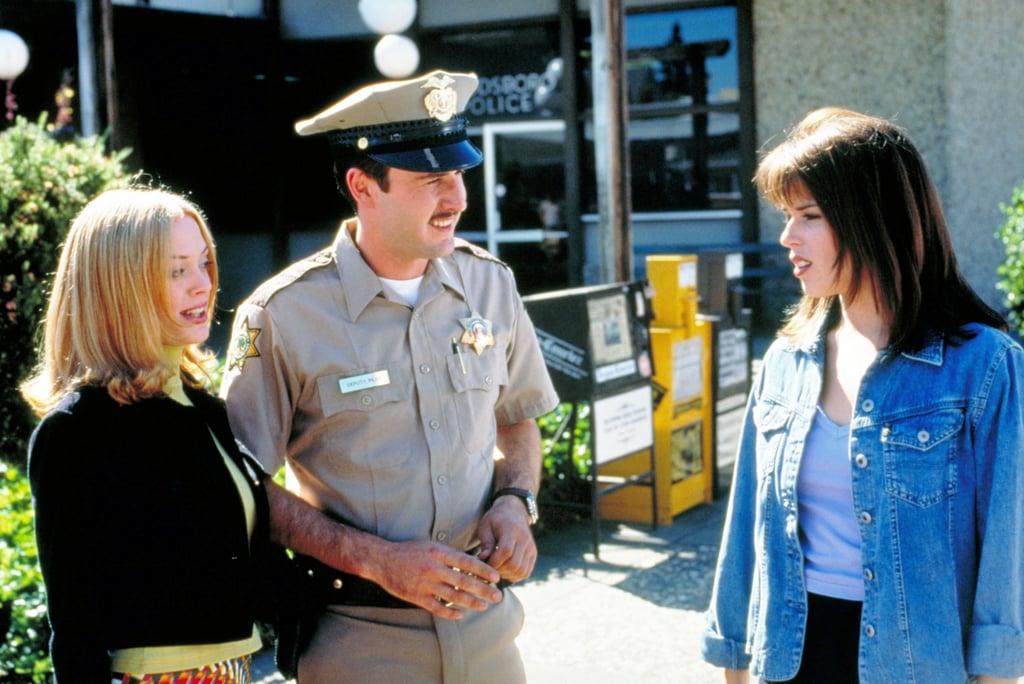 Rose McGowen and David Arquette in Scream