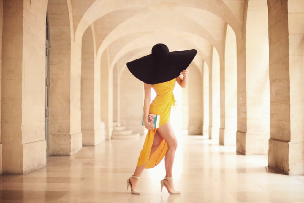 I adore a big hat – there is something so fabulously ladylike about them. This outfit was actually inspired by Villa America, a real life mansion on the Riviera that hosted all sorts of interesting characters such as Hemingway and Picasso back in the 1920s. And while this is in no means appropriate for the beach, towns like St Tropez and Cannes are famously celebrated for their parties – and so this sun yellow dress & ridiculously large hat is a more formal yet still simple choice for a party by the French slice of the sea.