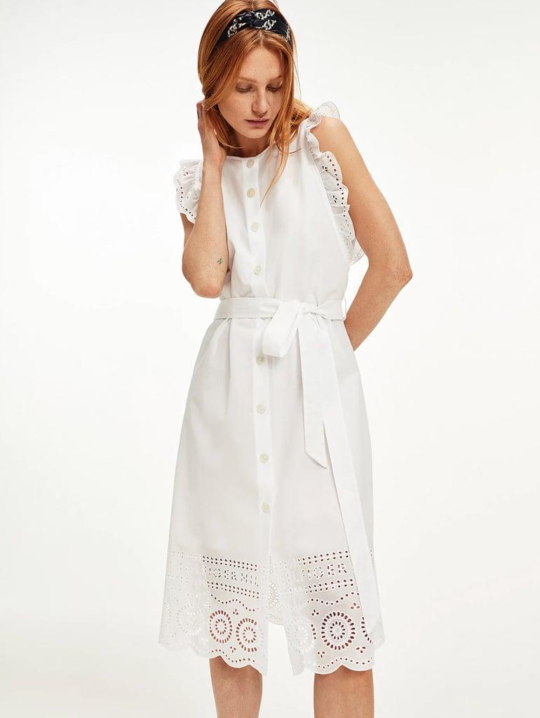 Tommy Hilfiger Cutwork Butterfly Sleeve Shirt Dress