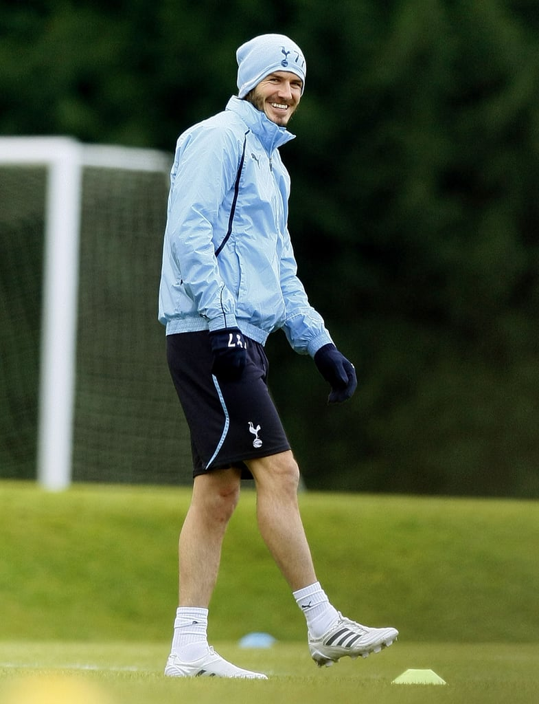 David Beckham Kicks the Ball Around and Hopes to See On-Field Action