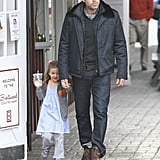 Ben Affleck and Seraphina Affleck enjoyed a morning out without mom Jennifer Garner.