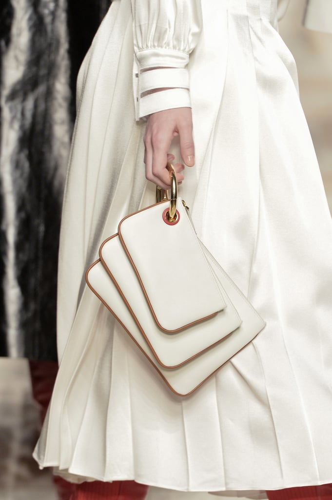 The new Fendi key fob holds an accordion of clutches.