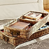Pottery Barn Caden Square Ottoman Divided Basket ($119)