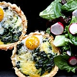 Spinach and Smoked Gouda Quails Egg Quichelets