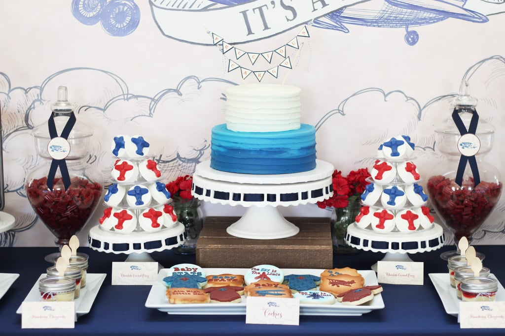 Vintage Airplane Baby Shower Popsugar Moms