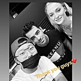 Joe Jonas and Sophie Turner With the Artist at Bang Bang Tattoo