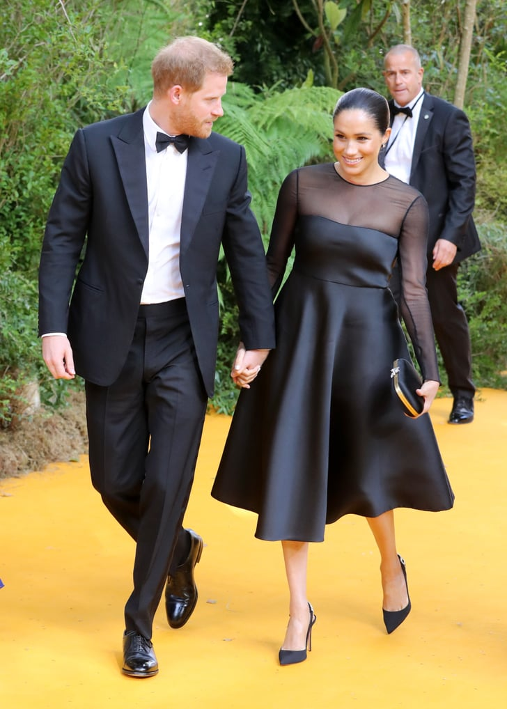 meghan markle dress at the lion king premiere 2019