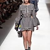 Bella Hadid Opened the Fendi Show on Sept. 2016