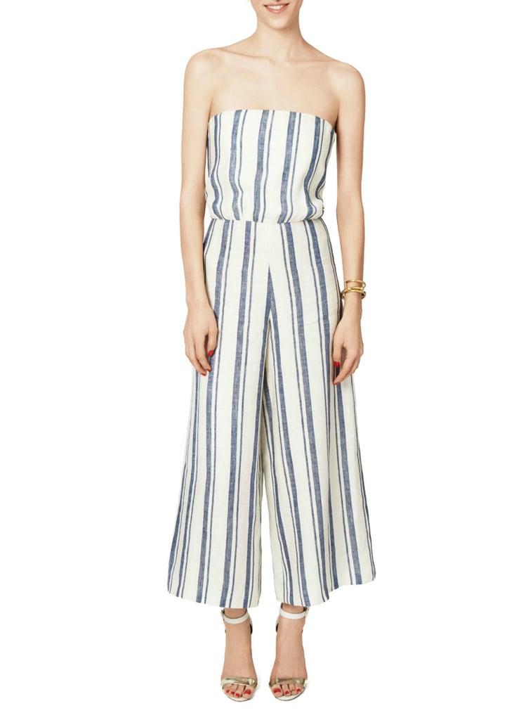 Alice + Olivia Lucie Striped Linen Jumpsuit ($368)