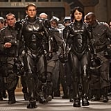 Charlie Hunnam as Raleigh Becket Fighting aliens in a sexy Iron Man-like suit, Charlie Hunnam has us doing a double take. The handsome Brit brings his A-game in the action film Pacific Rim, looking as gorgeous as ever with short hair and a serious smolder.