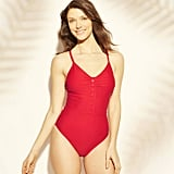 Button One-Piece Swimsuit