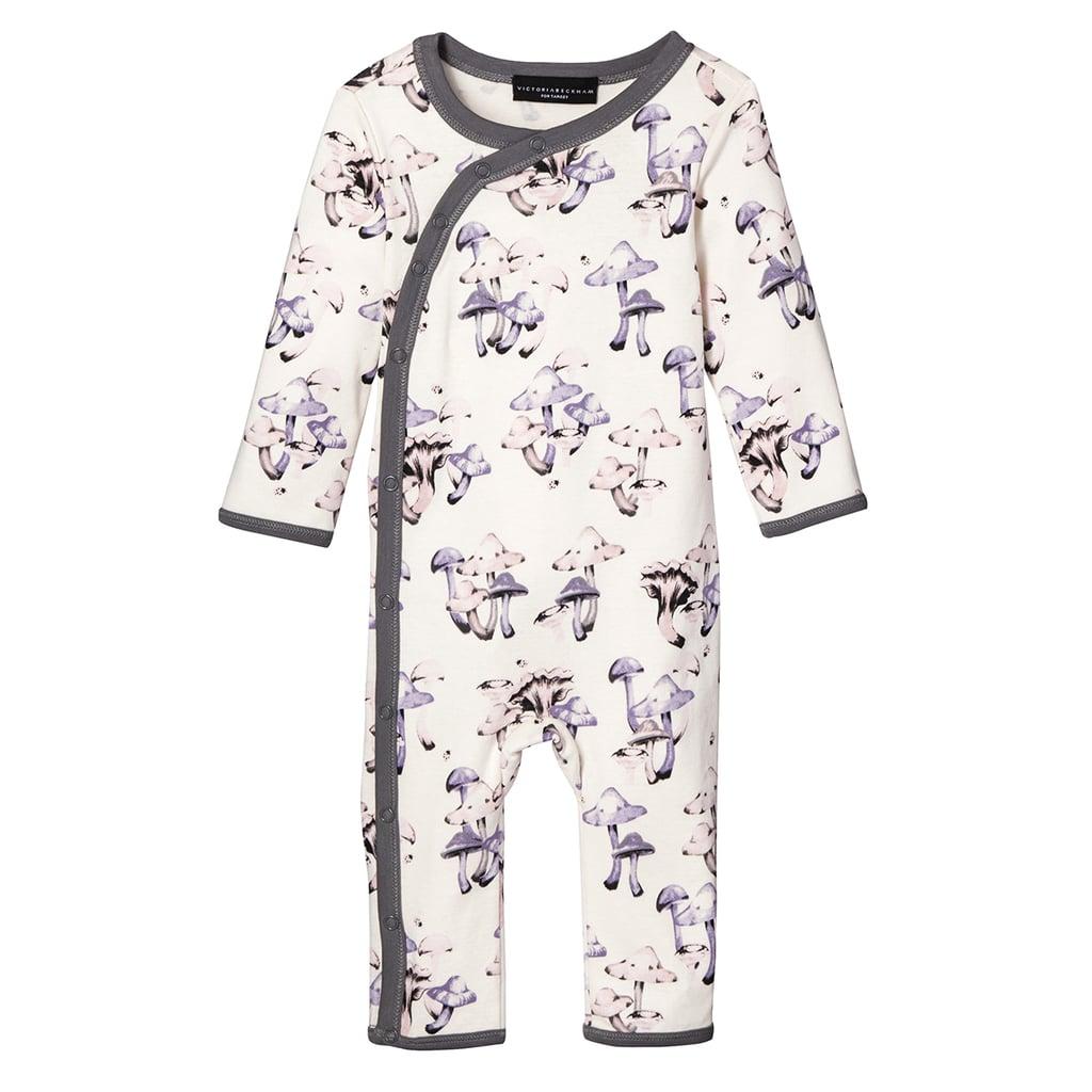Baby Mushroom Print Long Sleeve Bodysuit  ($13)