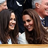 Pippa Middleton Kate and Pippa were born just 20 months apart, and have been best friends as well as sisters their whole lives. With the same passions and interests, taste in clothes and shared friends, they were the perfect roommates when they lived in London together, while Pippa was on hand to help Kate plan her wedding, and gets on very well with the royal family. The sisters still holiday together, and Pippa is a frequent visitor to Anmer Hall. Alice Avenal Proving that the friendships formed in teenage years can be the strongest, Alice is yet another former Marlborough girl, and is connected to all those closest to Kate. Not only was she friends with the duchess at school — they were on the tennis team together — she was also a teenage friend of Prince William, and then went on to Edinburgh University with Pippa Middleton. In recent years William and Kate went to Alice's wedding, and they are still close now. Alice's daughter Rose is just a year older than Prince George.
