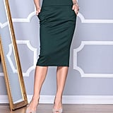 Emerald High-Waist Wool-Blend Pencil Skirt - Plus Too