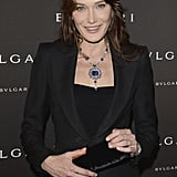 Carla Bruni-Sarkozy was spotted at the Bulgari Diva Event in Paris where her hair was parted down the middle with high-gloss waves. As for makeup, the former first lady just added a touch of gloss.