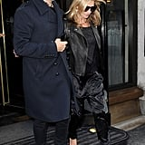 Kate Moss and Jamie Hince had lunch at The Wolseley in London.