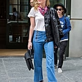 Style Your T-Shirt With: Jeans, A Leather Jacket, and Boots