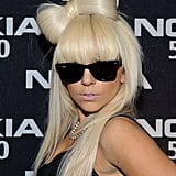 Lady Gaga's Blond Hair Bow
