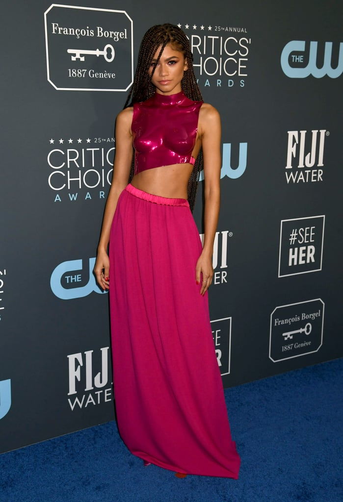 Zendaya at the 2020 Critics' Choice Awards