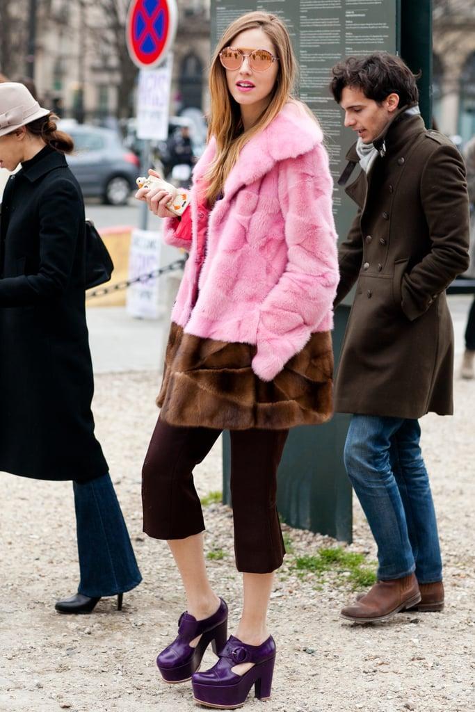 A punk-glam take on fur in bubblegum pink. Source: Le 21ème | Adam Katz Sinding