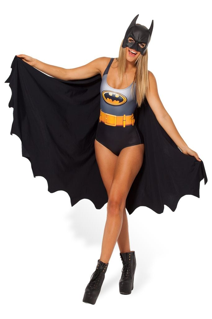 Wear this Batman cape swimsuit ($102) now and save later for Halloween.
