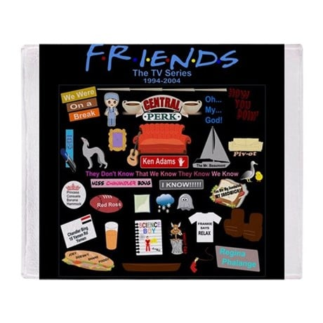 KIDS // MEDIUM // LARGE Friend TV Show The Tv Series Quotes Blanket