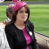 Hot pink was the colour of choice when Eugenie attended Royal Ascot in 2010.